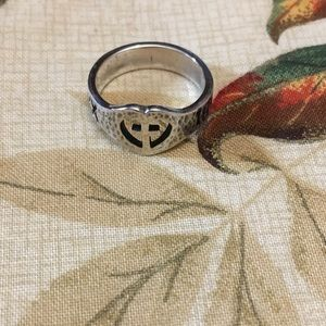 James Avery retired Hammered Cross Ring